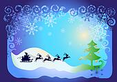 Santa Claus in sled