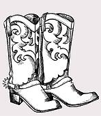 Cowboy Boot Clip Art - Royalty Free - GoGraph