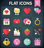 Valentine's Day: Flat Icons
