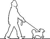 Man walking the dog