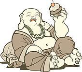 Buddha With Cupcake