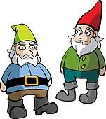 Two Lawn Gnomes