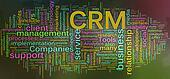 Wordcloud of CRM - Customer relationship management