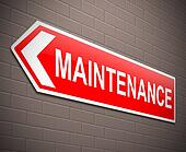 Maintenance concept.