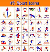 Set of 45 sport icons