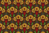 sunflowers wallpaper, dark