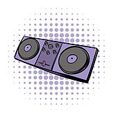 Musical modern instrument mixing console icon
