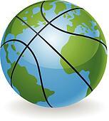 World globe basketball ball concept