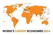 world economy background