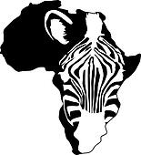zebra africa silhouette