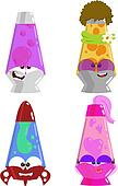 cute cartoon lava lamps