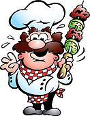 Kebab Chef with a kebab skewer