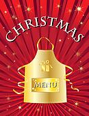 christmas menu red
