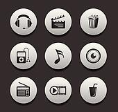 entertainment & music icon