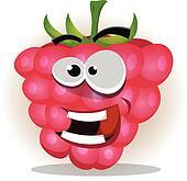 Funny Happy Raspberry Character