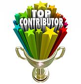 Top Contributor Trophy Recognition Contribution Effort Help Supp