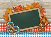 Oktoberfest Blackboard Pretzel Wood