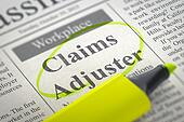 Claims Adjuster Wanted.