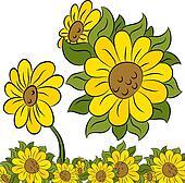 Sunflower Design Element