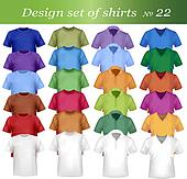 Colorful men polo and t-shirts
