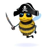 3d Bee pirate