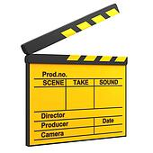 Yellow movie clapper