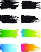 paint brush stroke frames, vector