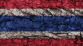 Thailand Flag rough texture