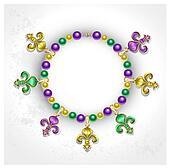 Necklace with Fleur de Lis