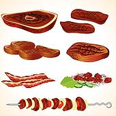 Meat Clip Art - Royalty Free - GoGraph