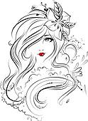 Face, Eyes, Hair & Beauty Illustrat