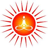 Yoga energy icon
