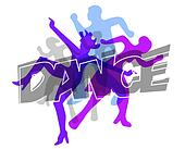 Modern dance colorful background