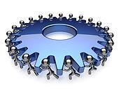 Teamwork community business process hard job mans unity