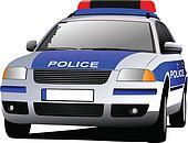Police car. Municipal transport. C
