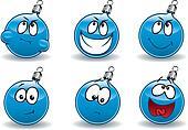 Christmas ball-ball emoticons