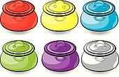 Cartoon colorful casserole