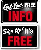Sign up Free INFO Store Sign Set