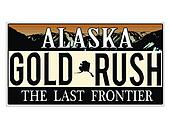 An imitation Alaska license plate