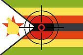 Sniper Scope on the flag of Zimbabwe