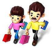 I like shopping for couples, 3D Family Character