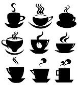 Coffee cup icons collection
