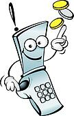 Funny mobile telephone