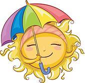 Sun Holding Umbrella