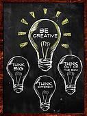 Be creative, Think big