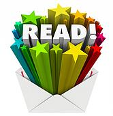 Read Word Stars Envelope Share Message Mailing Outreach