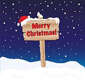 Merry Christmas sign night