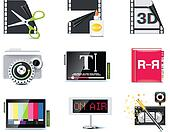 Vector video icons. P.6