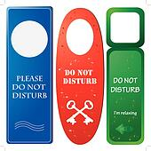 Door hangers with ''Do not disturb'