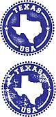 Texas USA Stamps